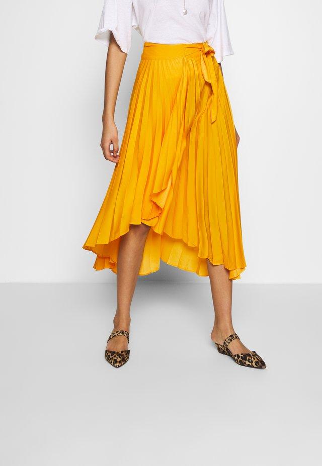 THE PLEATED WRAP SKIRT - A-line skirt - sunflower