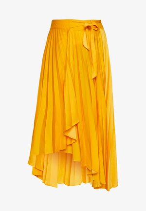 THE PLEATED WRAP SKIRT - A-line skjørt - sunflower