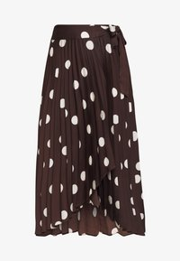 Who What Wear - THE PLEATED WRAP MIDI SKIRT - A-line skjørt - brown - 4