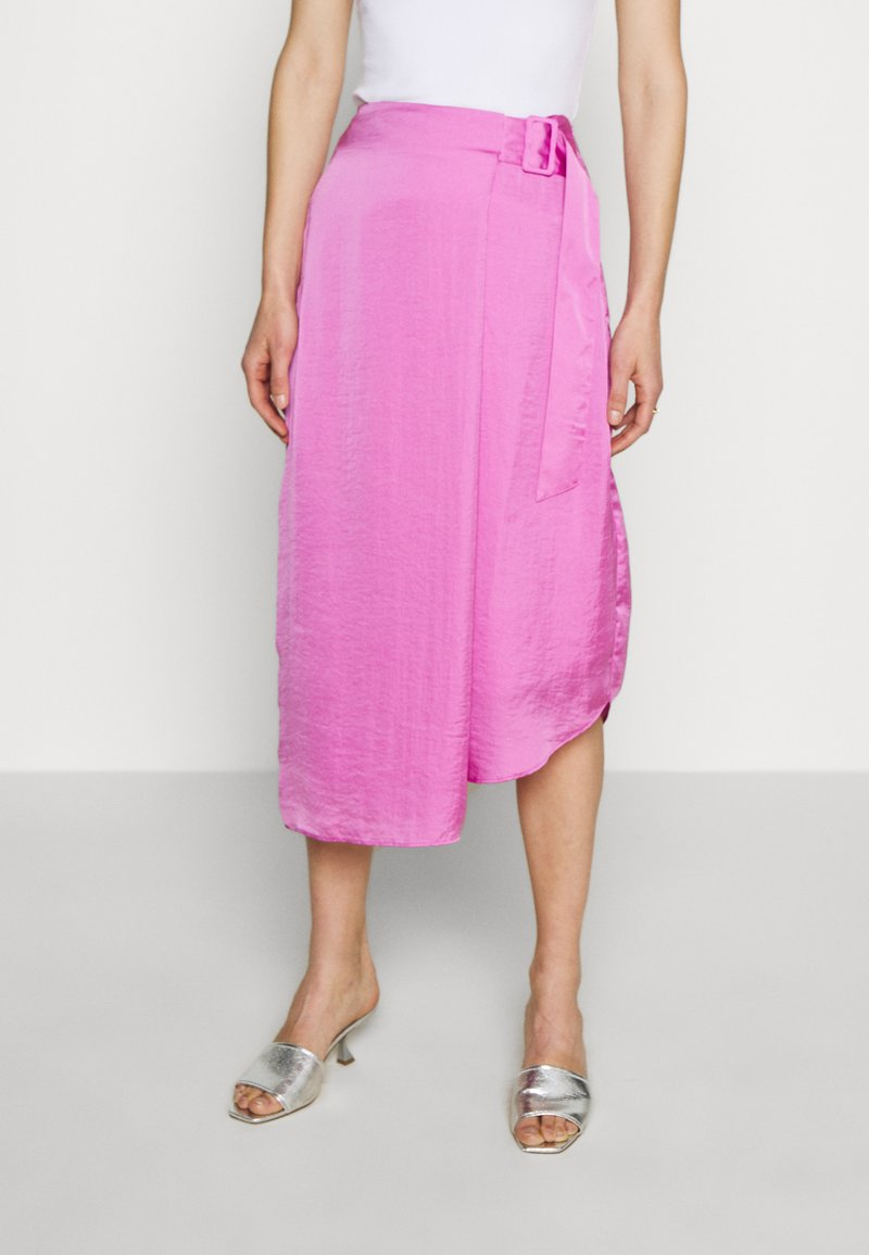 Who What Wear - THE FOLDED DRAPE SKIRT - A-line skirt - lilac
