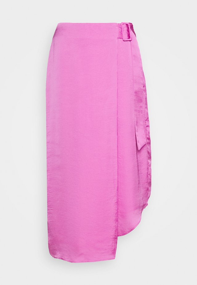 THE FOLDED DRAPE SKIRT - A-linjekjol - lilac