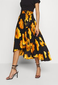 Who What Wear - THE WRAP MIDI SKIRT - A-linjekjol - black - 0