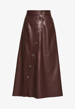 MIDI SKIRT - Gonna a campana - coffee