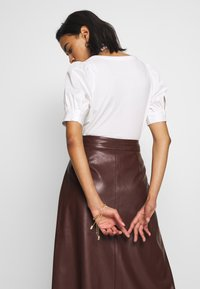 Who What Wear - MIDI SKIRT - A-line skjørt - coffee - 3