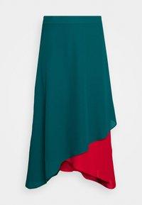Who What Wear - ASYMMETRIC LAYERED SKIRT - A-line skirt - jade/siren - 3