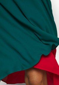 Who What Wear - ASYMMETRIC LAYERED SKIRT - A-line skirt - jade/siren - 4