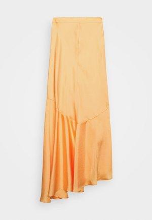 ASYMMETRIC SLIP SKIRT - Maxi skirt - peach