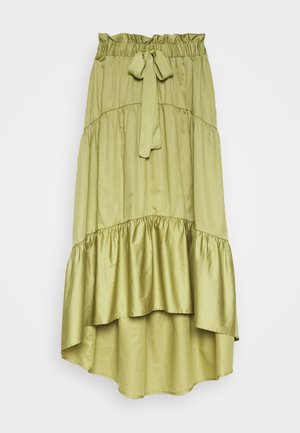 TIERED TIE WAIST SKIRT - Áčková sukně - cedar