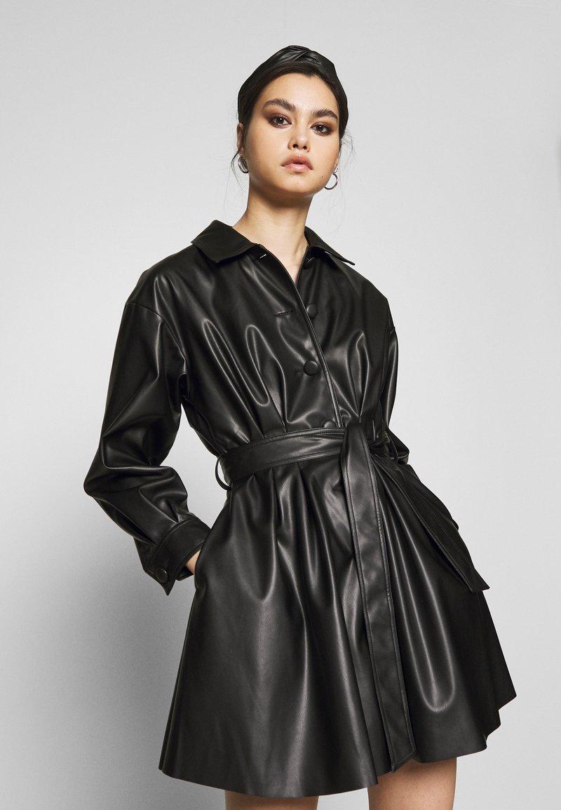 Who What Wear - THE MINI - Shirt dress - black