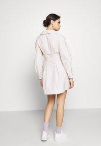 Who What Wear - THE A LINE DRESS - Skjortklänning - off-white - 2
