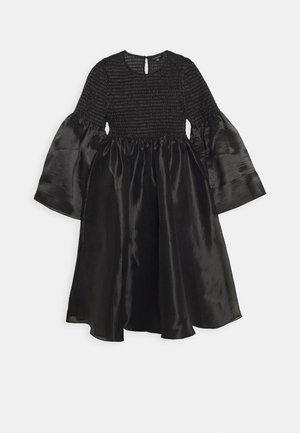 THE SMOCKED ORGANZA DRESS - Day dress - black