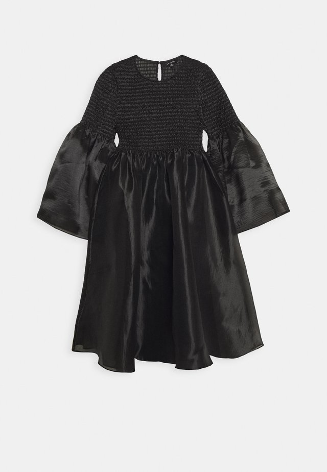 THE SMOCKED ORGANZA DRESS - Day dress - black