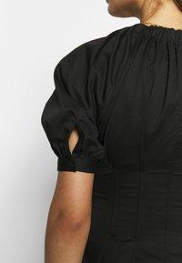 Who What Wear - WAIST DETAIL MIDI DRESS - Kjole - black - 4