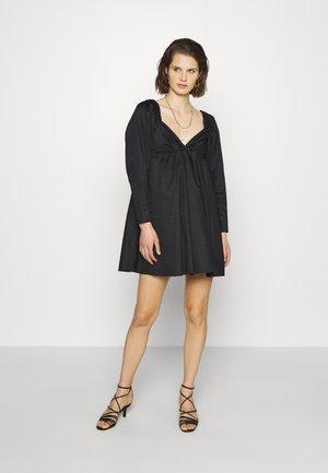 THE DRAMATIC SLEEVE MINI DRESS - Day dress - black