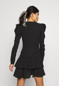 Who What Wear - THE RUCHED MINI DRESS - Cocktailkjole - black - 3