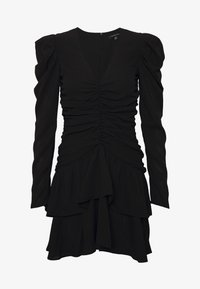 Who What Wear - THE RUCHED MINI DRESS - Cocktailkjole - black - 5