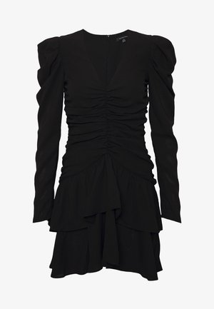 THE RUCHED MINI DRESS - Koktejlové šaty / šaty na párty - black