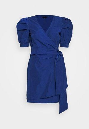THE PUFF WRAP DRESS - Kjole - navy
