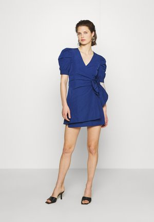 THE PUFF WRAP DRESS - Korte jurk - navy