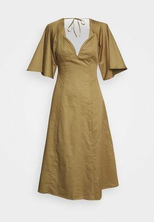 THE LOVEHEART NECKLINE DRESS - Korte jurk - khaki army