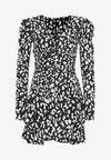 THE RUCHED 80S MINI DRESS - Robe de soirée - black/white
