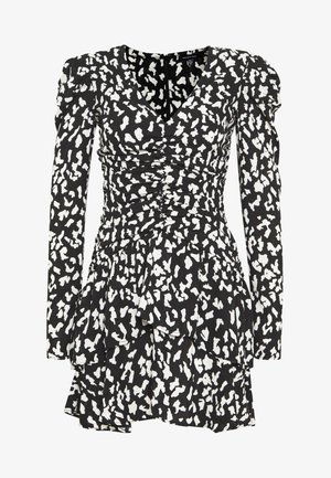 THE RUCHED 80S MINI DRESS - Cocktailkjole - black/white