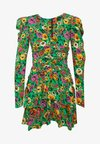 THE RUCHED 80S MINI DRESS - Cocktailkjole - green