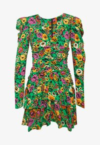 Who What Wear - THE RUCHED 80S MINI DRESS - Cocktailkjole - green - 4