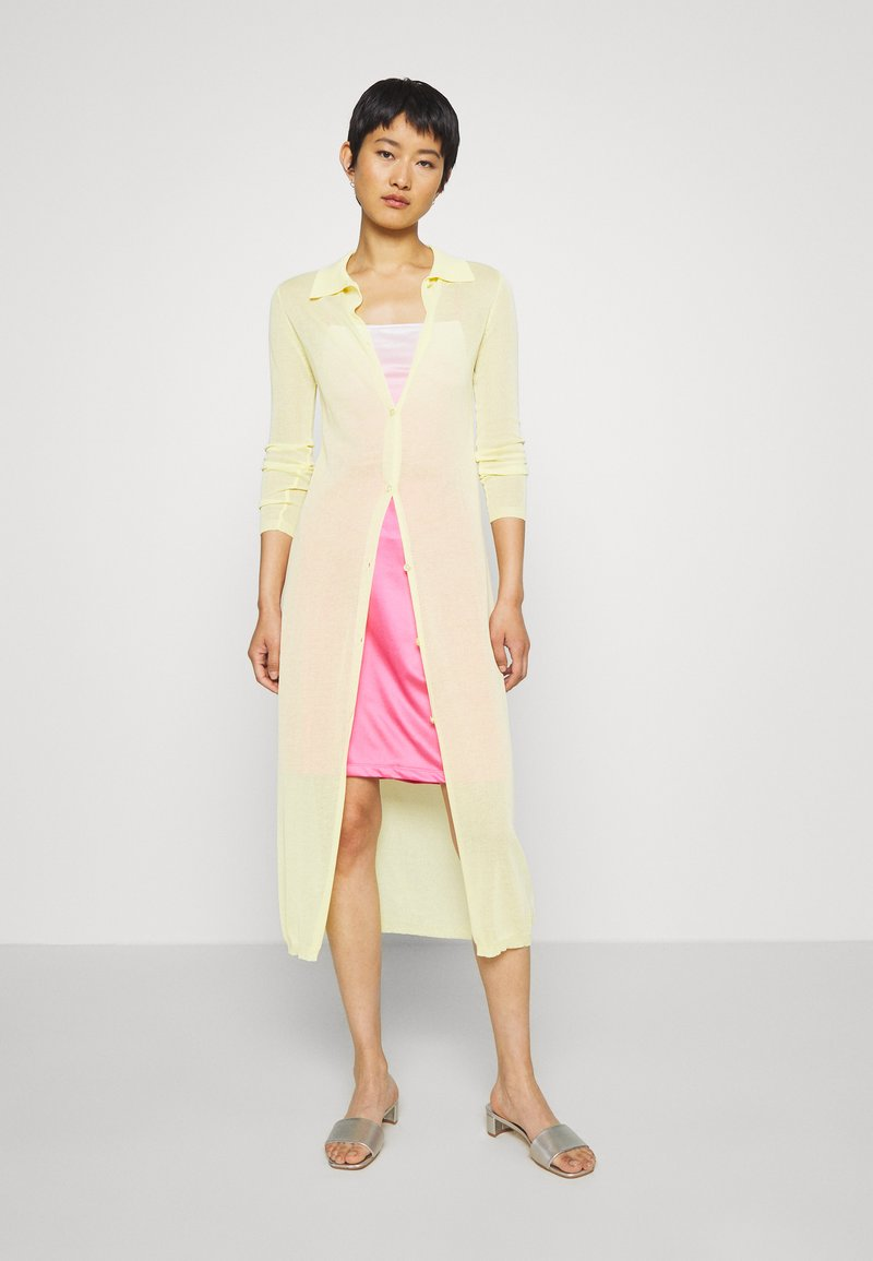 Who What Wear - THE SHEER - Cardigan - lemon