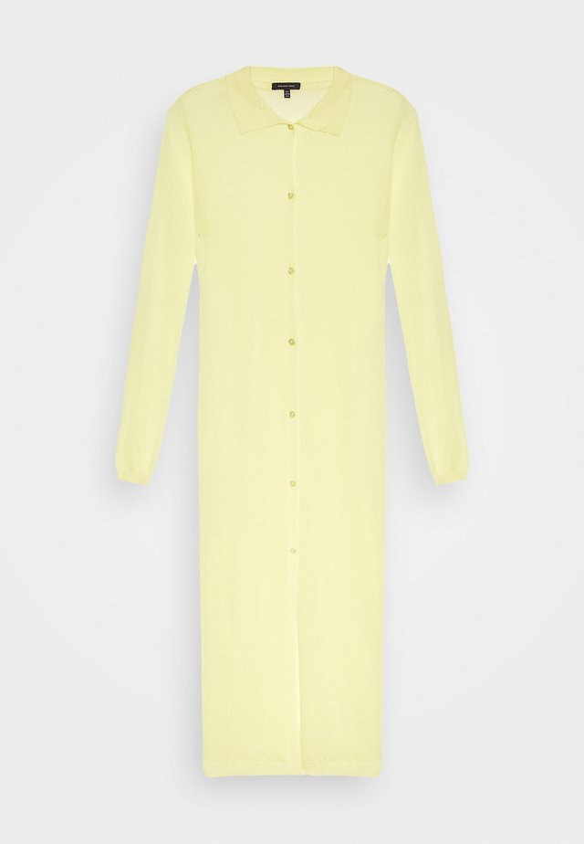 THE SHEER DRESS - Abito a camicia - lemon