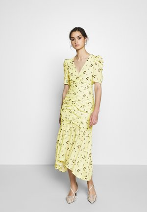 THE RUCHED FISHTAIL DRESS - Denní šaty - yellow