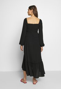 Who What Wear - THE PUFFSLEEVE MIDI DRESS - Kjole - black - 2