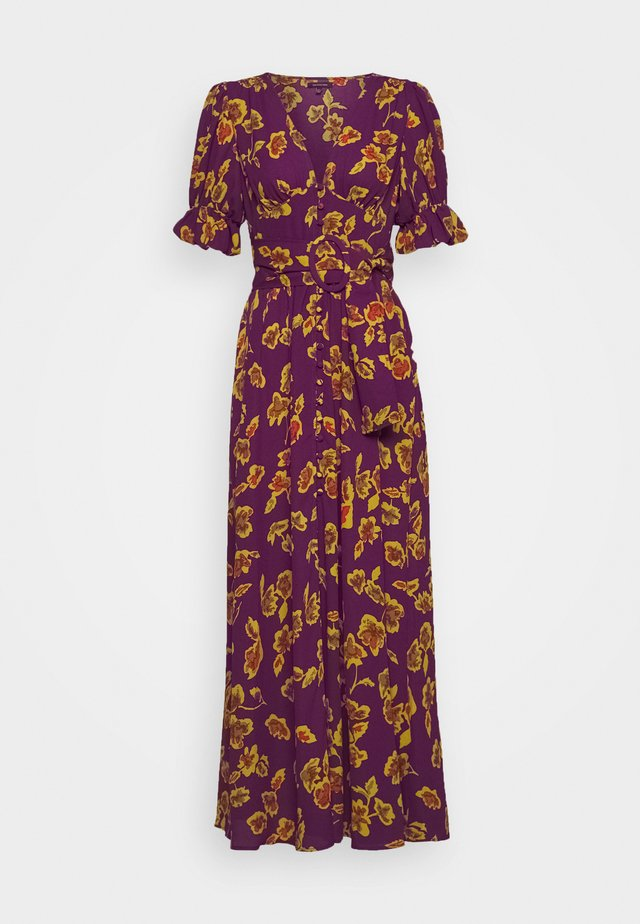 THE BELTED PUFF SLEEVE DRESS - Shirt dress - pop art purple