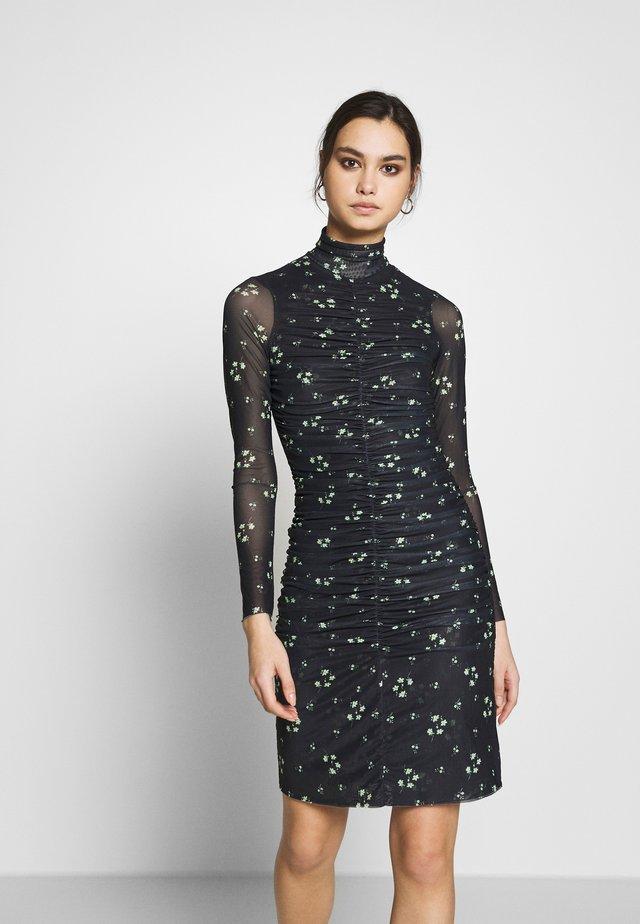 THE RUCHED DRESS - Korte jurk - black