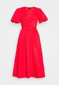 Who What Wear - PUFF SLEEVE MIDI - Robe chemise - siren red - 4