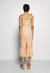 Who What Wear - TIE STRAP BUSTIER DRESS - Day dress - orange - 2