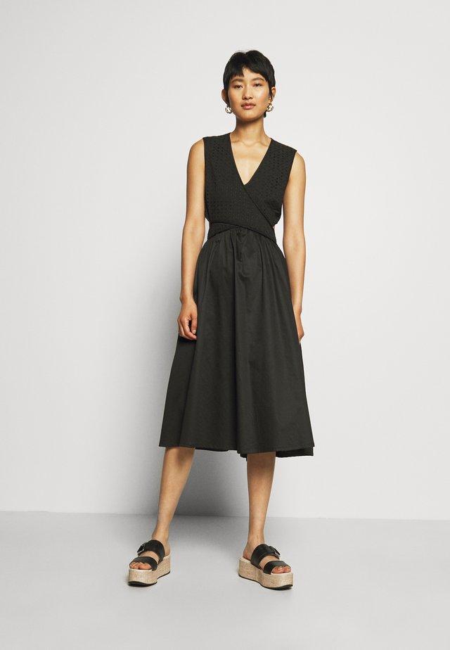 CROSSOVER DRESS - Korte jurk - black
