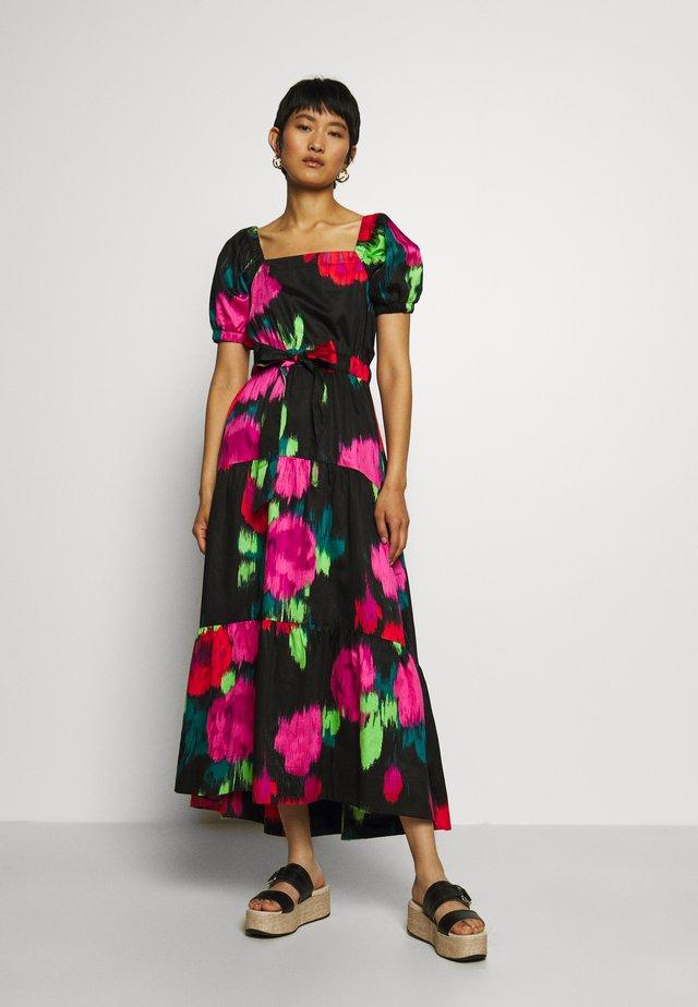 GATHERED DRESS - Długa sukienka - multicoloured