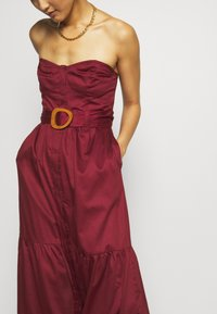 Who What Wear - STRAPLESS BUSTIER DRESS - Abito da sera - rosewood - 5