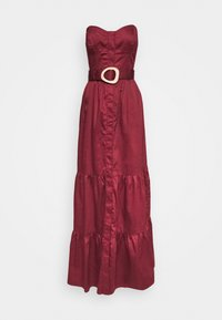 Who What Wear - STRAPLESS BUSTIER DRESS - Abito da sera - rosewood - 4