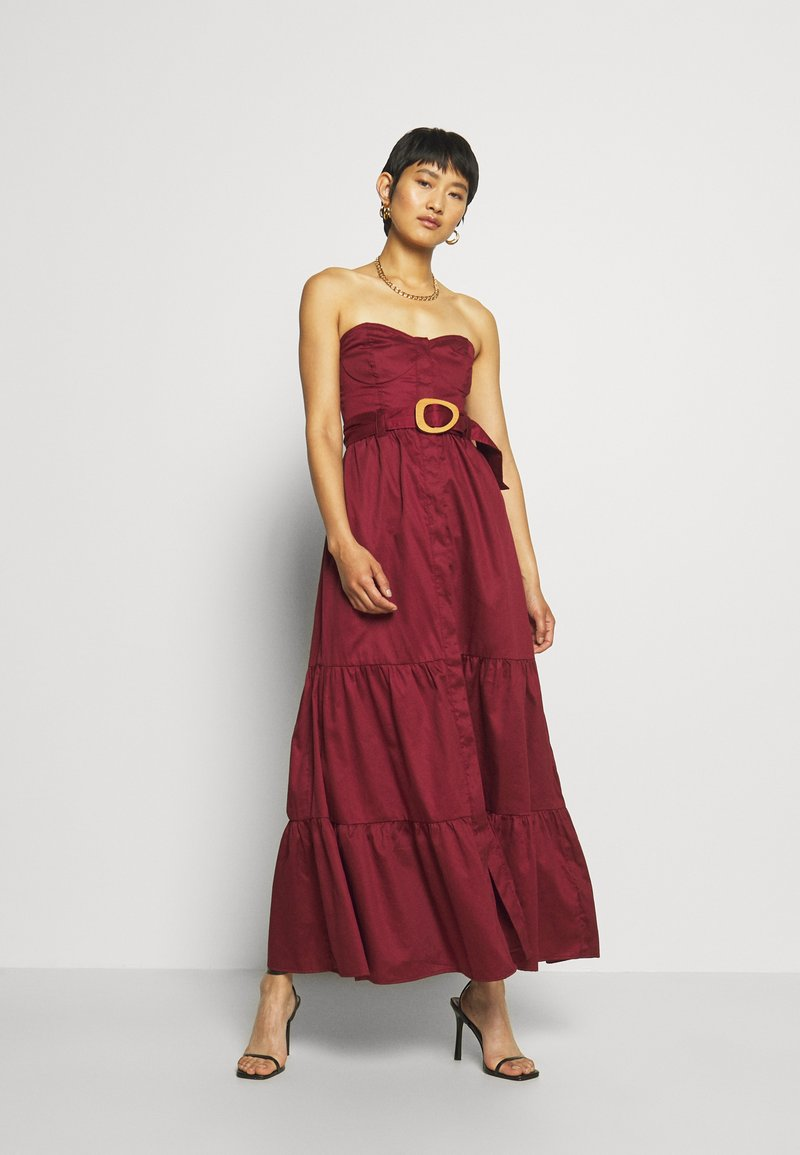 Who What Wear - STRAPLESS BUSTIER DRESS - Abito da sera - rosewood