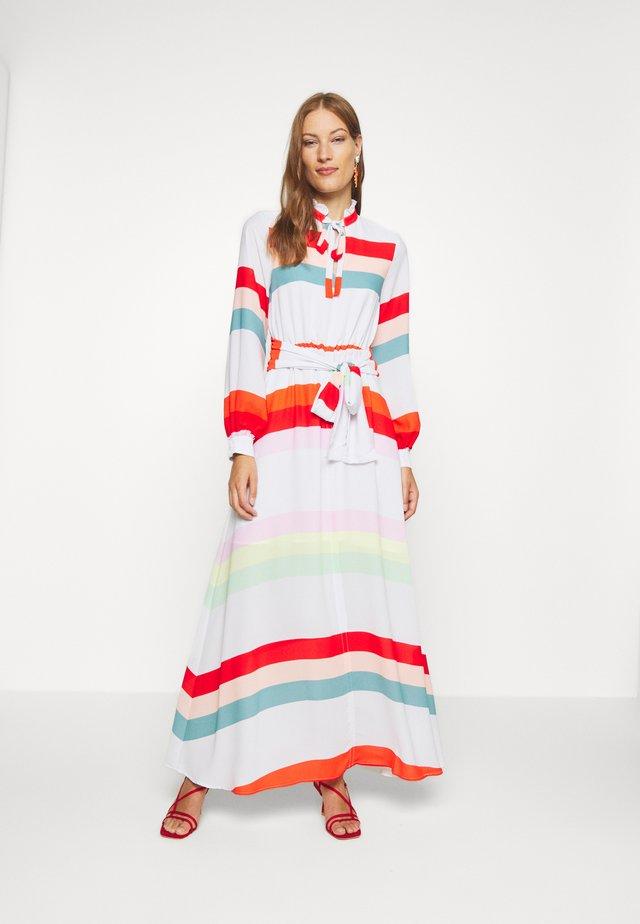 BELTED DRESS - Długa sukienka - multicolor