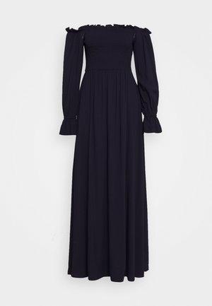SMOCKED OFF THE SHOULDER DRESS - Sukienka letnia - midnight
