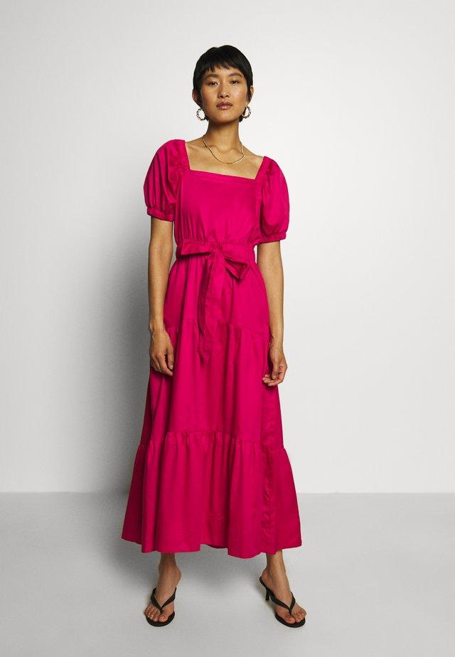 GATHERED DRESS - Długa sukienka - lipstick