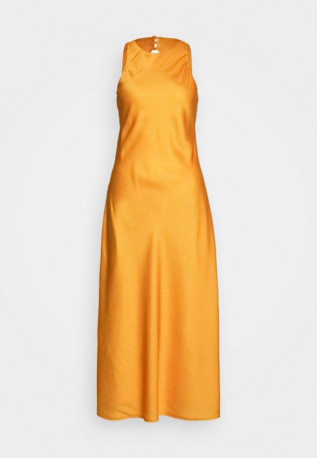 CUT OUT BACK SLIP DRESS - Vestido largo - papaya