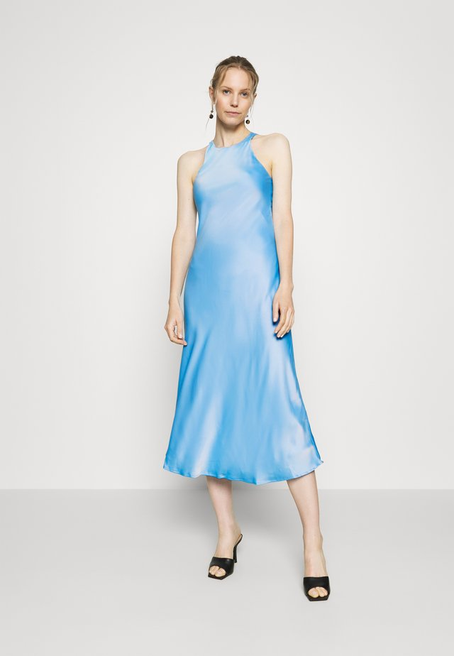 CUT OUT BACK SLIP DRESS - Sukienka koktajlowa - sky blue