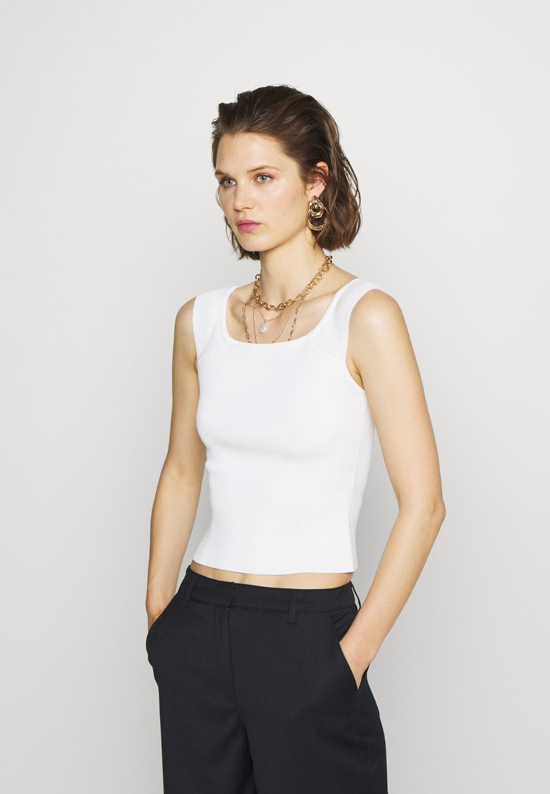 Who What Wear - THE OFF THE SHOULDER - Top - white