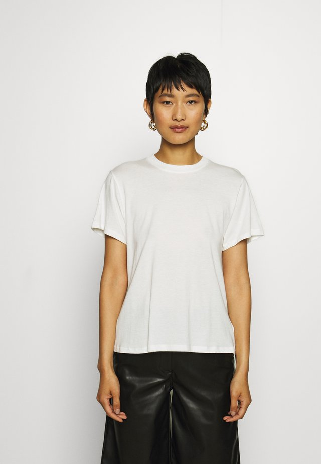 V-BACK - T-shirt - bas - powder
