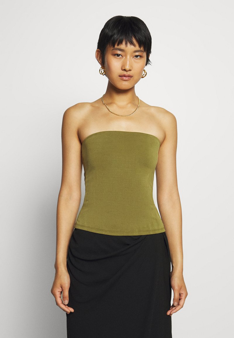 Who What Wear - TUBE - Top - moss
