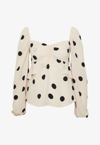 Who What Wear - THE PUFFSLEEVE MILKMAID - Blusa - ivory/black - 5